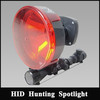 Factory Price 12V 35/55W HID Handheld Hunting Shotgun Spotlight,175mm reflector scope mounted light