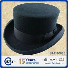 short crown top hat 100% wool felt formal headwear