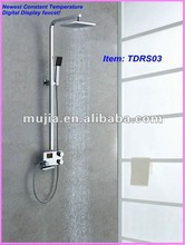 2012 Fashion and Practical Brass Chrome plated thermostatic bathroom fitting TDRS03