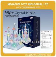 105pcs Crystal Puzzle Series Castle Shaped 3D Puzzle DIY