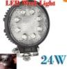 2x 24W High Power LED Light Work Light Tractor 4x4 ATV Jeep Off Road Spot/ Flood