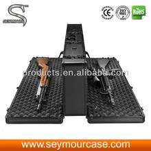 Double side aluminum gun case aluminum rifle case aluminum shotgun case
