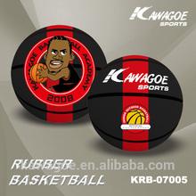 rubber made basketball ball