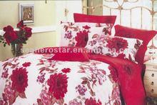 combed cotton flower/floral comforter bedding sets /bed cover