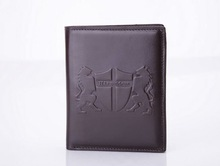2015 Genuine Lether Laser Engraving leather wallet For Men