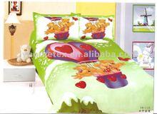 Children bedding set, printed cotton bedding set/ 3pcs duvet cover set, super single bed set