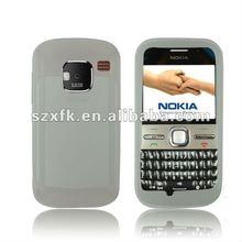 Silicon case mobile phone back Cover for Nokia E5