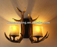 2 LT Rustic Antler Candle Wall Sconce,CA-405