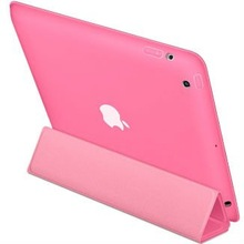 2012 new smart case for new ipad - Polyurethane - Pink