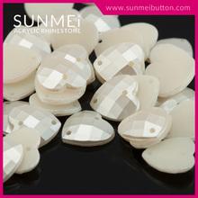 Decorative Heart Shape Colored Rhinestone Pearl Trim