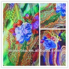 100%P fashion colorful digital print silk chiffon fabric designs