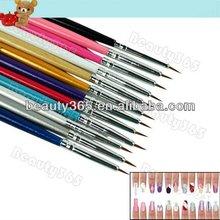 12Pcs Designer nail art drawing pen kits Brushes Painting Dotting Acrylic Tools