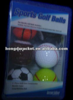 easy carring colorfur sports golf ball set----BSCI FACTORY