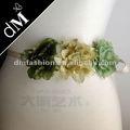 Popular de punto cinturones de la cintura con flores de tela bl-119