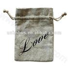 cotton linen drawstring bag