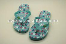 Fashion ladys printed plain rubber sole flip-flops