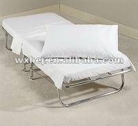 50% Cotton 50% Polyester plain white hospital bed sheet set
