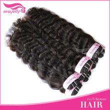 Undyed natural color virgin natural brazilian hair natural heat protection hair