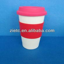 ceramic logo 13 oz travel mug double wall for promotion with customized