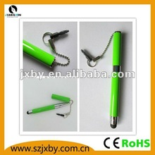 2013 promotional capactive stylus touch screen pen with earplug string