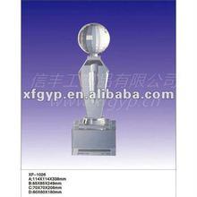 Triumphant Return Crystal Trophy Cup & basketball / golf / soccer crystal award