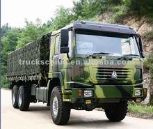 6x6 300HP-420HP 25T-45T SINOTRUK HOWO MILITARY CARGO TRUCK