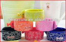 2012 fashion design silicone bracelet pen