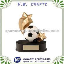 Soccer with star souvenir trophy