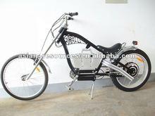 Wholesale Cheap 2012 NEW Cool Black Color Harley Chopper Schwinn 48V 500W Electric Bike + 48V 10AH Li-ion Battery