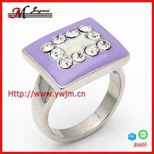 R4455 fashion thailand ring enamel jewelry palladium plated