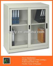 KFY-CB-19 Beige Steel Glass Door Floor Filing Cabinet