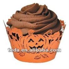 Dessert Decorators Halloween Party Decoration Pumpkin Design Cupcake Wrapper