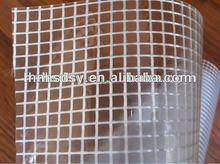0.75mm transparent pvc mesh fabric for curtain