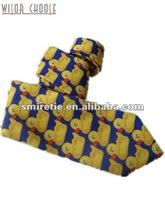 Lovely ducks animal pattern 100% Printed Silk Necktie