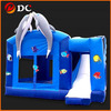 Attractive Lovely Dolphin Cartoon Jumping Castles Inflatable Slide