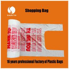custom PE cheap shopping plastic bags with printing