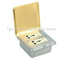 CCC certificate double socket&double MF socket floor socket box