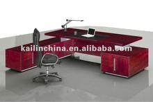 latest office furniture custom made manufacturer veneer finished office executive table desk design