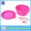Newly silicone Folding Travel Pet / Dog Food Bowls