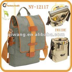 """fashion design cotton-canvas vertical 15"""" laptop messenger bag"""