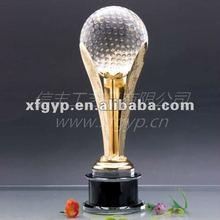Metal de altura y la bola cristal trofeo de la copa, Thrive