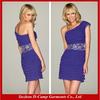 OD-306 One shoulder short cocktail dresses short royal blue beach cocktail dress
