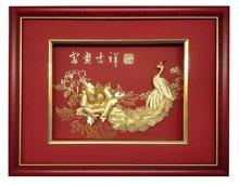 24k gold leaf painting handicraft