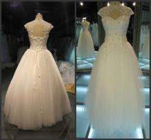 vintage high neck lace wedding dresses with keyhole back