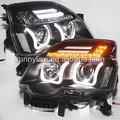 Para nissan x - trail angel eyes led luz de la cabeza 2012 tipo u
