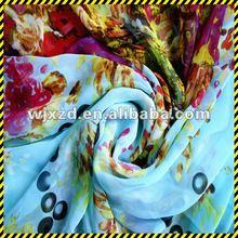 2012 New design Digital printed silk chiffon fabric