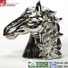 15 pulgadas venta al por mayor de plata de cerámica caballo venta