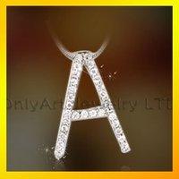 wholesale alibaba China make custom alphabet letter pendants, letters alphabet jewelry fashion