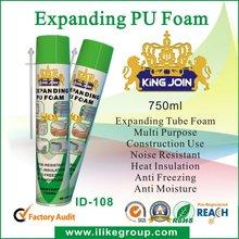 small cracks and gaps Seal PU foam sealant manufacturer/factory 500ml/750ml (ROHS certificate)