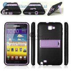 Innovative mobile phone accessories Korea fashion design silicon PC combo case for Galaxy Note